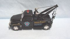 ACTION TOY: Chevy 3100 Diecast Toy Tow Truck by Kinsmart 1973 Scale 1:38 Pull/Back Action