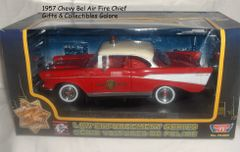 1957 Chevy Bel Air Fire Chief Diecast Collectible Model Car 1:24 Scale Motormax
