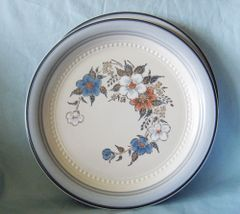 DINNER PLATES - Set of (2) CROWNING FASHION Johann Haviland Blue Bouquet Dinnerware