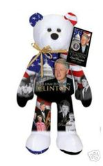 WILLIAM JEFFERSON CLINTON: Collectible President Plush Bear By Limited Treasures