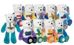 COIN BEARS Set of 50 Plush State Quarter Coin Bears LIMITED TREASURES