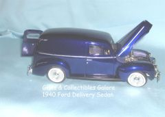 1940 Ford Delivery Sedan Die-cast Car Diecast Collectible Model Car 1:24 Scale