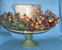 PEDESTAL DISH CANDLE HOLDER: Unique Pedestal Dish/Candle Holder with 4 Wick Candle