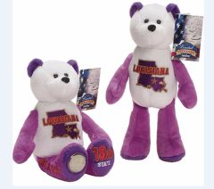 "COIN BEAR #18 LOUISIANA State Coin 9"" Collectible PLUSH BEAR - LIMITED TREASURES"