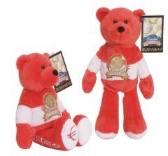 EURO COIN BEAR - AUSTRIA Collectible plush 20 Cent Euro coin bear