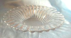 "DECORATIVE GLASS BOWL: Unique Decorative Clear 10 1/2"" Diameter Glass Bowl for Table Centerpiece with Fruit, Decorations"