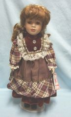 """COLLECTIBLE DOLLS: Collectible 16"""" Porcelain Doll by Rose Collection - SALLY"""