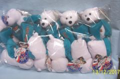 "PLUSH STATE QUARTER BEARS: 10 Discounted Limited Treasures Plush 9"" Collectible Bears in Unopened Bag #1 State Delaware"