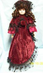"COLLECTIBLE DOLLS: Collectible Porcelain 18"" Porcelain Fashion Doll"