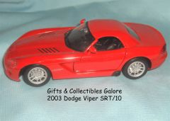 2003 Dodge Viper SRT/10 Diecast Collectible Model Car 1:24 Scale Maisto