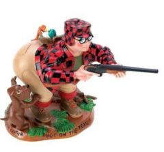 "FIGURINE: Whimisical Booty Hunter Figurine Resin 5 1/4"" Tall - HOT ON THE TRAIL"