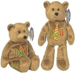"LIMITED TREASURE BEAR - Plush Collectible 9"" Dad Teddybear - LOVE 'YA DAD"