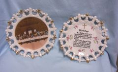 DECORATIVE WALL PLATES: The Last Supper & The Lord's Prayer by Norcrest