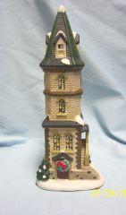 CHRISTMAS VILLAGE: 1998 St. Nicholas Square THE CLOCK TOWER Village Collection