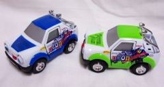 ACTION TOYS - Set of (2) Diecast I.Q. Cars Pull Back Action, Doors Open, Eyes & Tongue Move