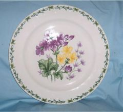 "SERVING PLATTER - Chop Plate 12"" Meat Serving Platter Thomson Floral Garden"