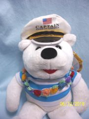 STUFFED TEDDY BEAR: Aloha Plush Teddy Bear CAPTAIN from the Pride of American Cruise Ship
