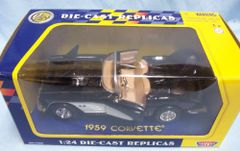 1959 Chevy Corvette Diecast Collectible Model Car Motormax 1:24 Scale