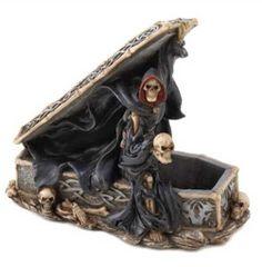 MEDIEVAL FANTASY FIGURINE: Mythical Scary Doom-Bringer - Evil Grim Reaper Figurine