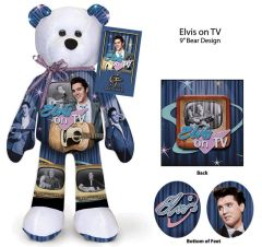ELVIS PRESLEY BEAR #24 Elvis Collectible Plush Bear - ELVIS ON TV