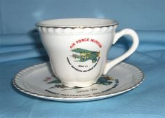 MEMORABILIA CUP and SAUCER SET - W. Patterson Air Force, Ohio