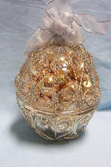 CHRISTMAS ORNAMENT: Silver & Gold Treasure Ornament Ball from International Silver Company