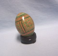 COLLECTIBLE EGGS: Elegant Russian Collectible Decorative Egg with Wooden Stand