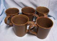 COFFEE CUPS, MUGS: Set of (5) Coffee Cups/Coffee Mugs by Karen Neuburger - Willow Collection