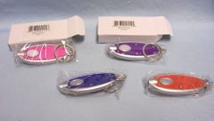 LED KEYCHAINS: Set (4) Super Bright LED Keychain Lights in different colors Come in Boxes. (Set #1)