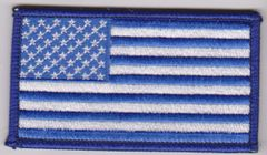American Flag Blue Border