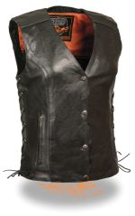 Ladies Vest w/ Stud & Wings Detailing. MLL4505