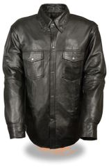 Men's Lightweight Premium Leather Shirt LKM1600