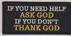 Ask and thank God