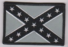Confederate Flag Black and Gray