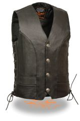 Men's Premium Side Lace Vest w/ Buffalo Snaps ML1369