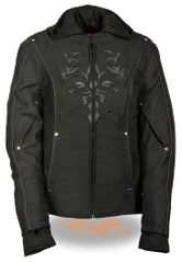 Women's Textile Jacket w/Reflective Tribal Design SH1939