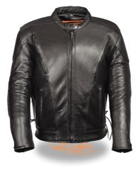 Men's Side Lace Vented Scooter Jacket SH1010