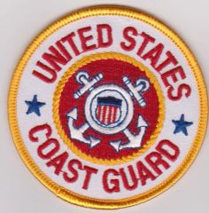 RED/GOLD US COAST GUARD