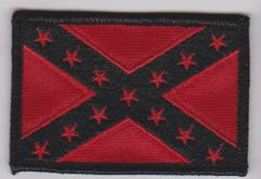 Confederate Flag Black and Red