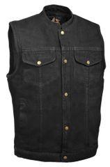 Men's Snap Front Denim Club Vest w/ Gun Pocket DM2238