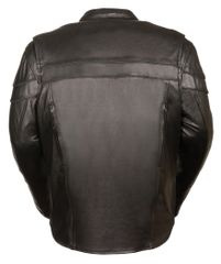Men's Sporty Scooter Crossover Leather Motorcycle Jacket SH1408