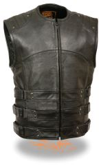 Men's Updated SWAT Style Biker Vest MLM3530
