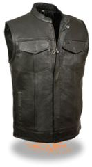 Men's Open Neck Snap/Zip Front Club Vest - LKM3710