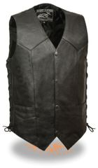 Men's Side Lace Biker Vest w/ Gun Pocket EL5397