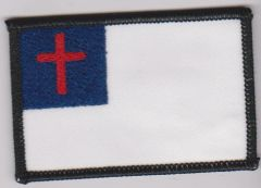 Christian Flag/black border