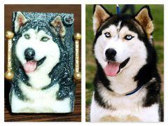 Husky Dog Pet Ring Selfie /Wolfy