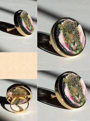 American Jaguar Pink Rose Gold Ring Selfie
