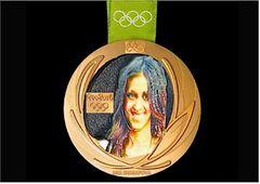 Medal of the Winner with Selfie in 3D
