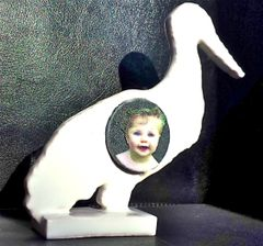 "New Born ""Stork"" Selfie (in Porcelain)"