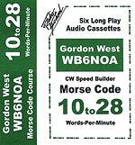 Gordon West 10 to 28 Words Per Minute Morse Code Speed Builder Set
